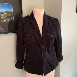 Loft Navy Fitted Jacket Size 8 (A)